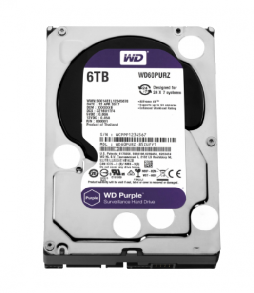 WESTERN DIGITAL PURPLE 6000 GB